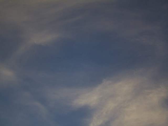 Clouds with open oval